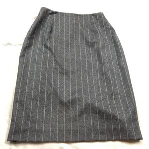 Ralph Lauren 100% wool pinstripe pencil skirt